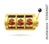 dollars jackpot gold slot... | Shutterstock .eps vector #515064667