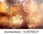 fireworks at new year and copy... | Shutterstock . vector #515070217