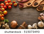 everything on wood table for... | Shutterstock . vector #515073493