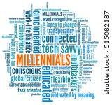 millennials in word collage | Shutterstock . vector #515082187