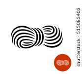 yarn black elegant icon. roll... | Shutterstock .eps vector #515082403
