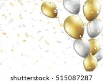 festive background with gold... | Shutterstock .eps vector #515087287