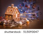 gingerbread house in christmas... | Shutterstock . vector #515093047