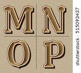 western alphabet design letters ... | Shutterstock .eps vector #515093437