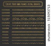 gold hand drawn borders and... | Shutterstock .eps vector #515093713
