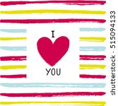 I Love You Card. Vector I Love...