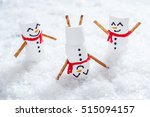 happy funny marshmallow snowman ... | Shutterstock . vector #515094157