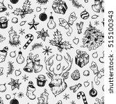 hand drawn winter pattern.... | Shutterstock .eps vector #515100343