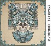 stylized skull. pagan god of... | Shutterstock .eps vector #515109823