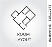 label of room layout.... | Shutterstock .eps vector #515112193