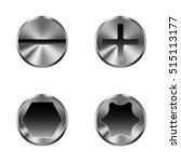 set of different screw caps ... | Shutterstock .eps vector #515113177