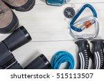 top view of equipment for... | Shutterstock . vector #515113507