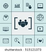 set of seo icons on brain... | Shutterstock .eps vector #515121373