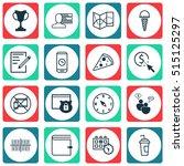 set of 16 universal editable... | Shutterstock .eps vector #515125297