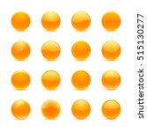 blank orange round buttons for... | Shutterstock . vector #515130277