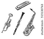 musical instruments. sketch... | Shutterstock .eps vector #515130763