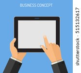 business concepts man holding... | Shutterstock .eps vector #515132617