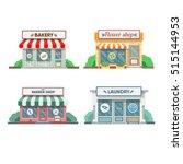 flower shop  laundry  barber... | Shutterstock .eps vector #515144953