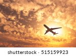 airplane flying on the sky... | Shutterstock . vector #515159923