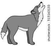 cartoon animals. beautiful wolf ... | Shutterstock .eps vector #515163133