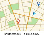 tortuous road  city map with... | Shutterstock .eps vector #515165527