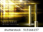 luxury mascaras ads  golden... | Shutterstock .eps vector #515166157
