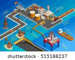 gas oil industry offshore... | Shutterstock .eps vector #515188237