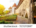 view on the castle wall with... | Shutterstock . vector #515192887