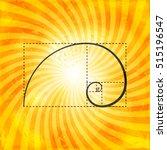 black golden proportion figure... | Shutterstock .eps vector #515196547