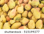 Small photo of Pears close up from supermarket. Fruit background (selective focus)