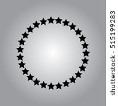 stars rounded icon in a flat...