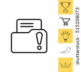 isolated file folder icon with... | Shutterstock .eps vector #515208073