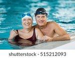 portrait of a senior couple... | Shutterstock . vector #515212093