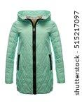women winter coat green  | Shutterstock . vector #515217097