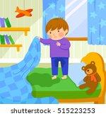 worried boy finds out he wet... | Shutterstock .eps vector #515223253