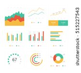 flat graph and chart vector set.... | Shutterstock .eps vector #515227543
