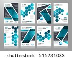 brochure template  flyer design ... | Shutterstock .eps vector #515231083