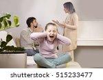 parents quarrel among... | Shutterstock . vector #515233477