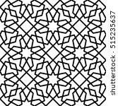 abstract pattern in arabian... | Shutterstock .eps vector #515235637