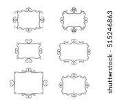 frames vector set. vintage... | Shutterstock .eps vector #515246863
