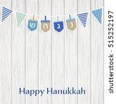hanukkah  jewish festival of... | Shutterstock .eps vector #515252197