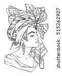 vector fashion illustration ... | Shutterstock .eps vector #515262907