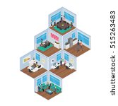 isometric office vector... | Shutterstock .eps vector #515263483