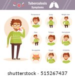 symptoms of tuberculosis. set.... | Shutterstock .eps vector #515267437
