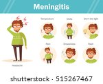 symptoms of meningitis.... | Shutterstock .eps vector #515267467