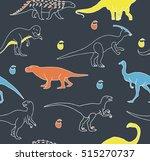 dinosaur seamless pattern. | Shutterstock .eps vector #515270737