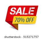 red sale banner  70 percents... | Shutterstock .eps vector #515271757