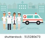 group of senior doctors and... | Shutterstock .eps vector #515280673
