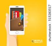 vector digital mobile wallet... | Shutterstock .eps vector #515283517