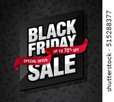 black friday sale banner | Shutterstock .eps vector #515288377
